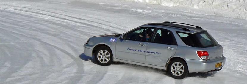 pilotage sur route gelée